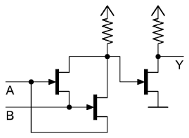 5a) 2-input xor using inputs as pull-down